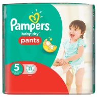 Pampers Baby-Dry Pants Size 5 Junior 21pk