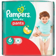 Pampers Baby-Dry Pants Size 6 Extra Large 19pk