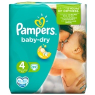 Pampers Baby Nappies Carry Pack 25pk - Size 4