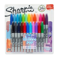 Sharpie Electro Pop Fine Point Permanent Markers 24pk