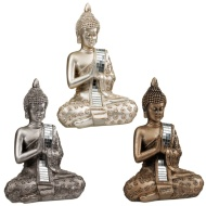 Sitting Mirror Buddha Ornament