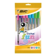 Bic Cristal Original Ball Point Pens 10pk - Fun