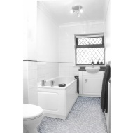 Grey Mosaic Effect Vinyl Flooring 2 x 3m Pack