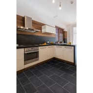 Black Slate Effect Vinyl Flooring 2 x 3m Pack