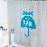 Beldray Peva Shower Curtain - Singing in the Rain