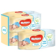Huggies Pure Wipes 224 Wipes 4 x 56pk