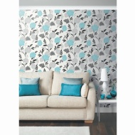 Carla Motif Wallpaper - Teal