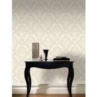 Rasch Gatsby Glitter Damask Wallpaper - Gold