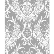 Debona Medina Damask Wallpaper - Silver