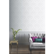 Arthouse Lucca Glitter Wallpaper - Silver
