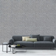 Coloroll Glitter Brick Wallpaper - Grey