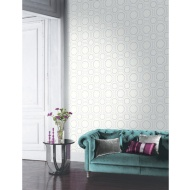 Arthouse Symmetry Glitter Wallpaper - Pearl