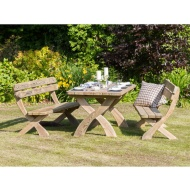 Harriet Table & Bench Set