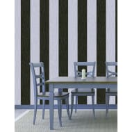 Debona Crystal Stripe Wallpaper - Black/Silver