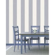 Crystal Stripe Wallpaper - Ivory/Silver