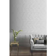 Arthouse Lucille Glitter Wallpaper - Silver
