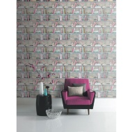 Arthouse Curious Wallpaper - Multicolour