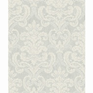 Bari Damask Wallpaper - Silver
