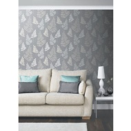 Arthouse Daybreak Glitter Wallpaper - Charcoal