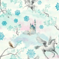 Arthouse Fairytale Ice Wallpaper - Blue