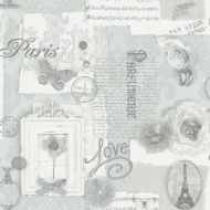 Arthouse Felicity Wallpaper - Silver