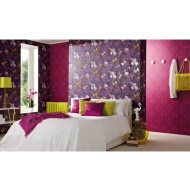 Arthouse Pindorama Gloss Wallpaper - Plum