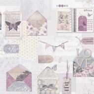 Arthouse PS I Love You Wallpaper - Lilac