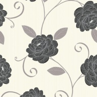 Debona Puccini Wallpaper - Black