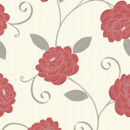 Debona Puccini Wallpaper - Red