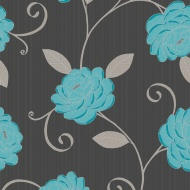 Debona Puccini Wallpaper - Teal