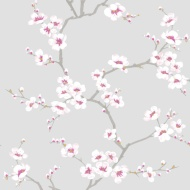 Fresco Apple Blossom Tree Wallpaper - Grey