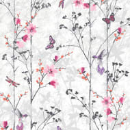 Muriva Eden Wallpaper - Pink