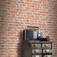 Rasch Brick Wallpaper - Red