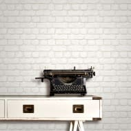 Rasch Brick Wallpaper - White