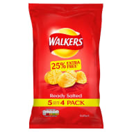 Walkers Ready Salted Crisps 5pk