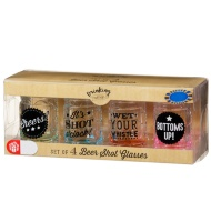 Beer Shot Glasses 4pk