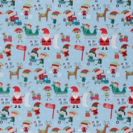 christmas extra wide text wrapping paper 5m santas workshop - Cheap Christmas Wrapping Paper