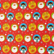 Christmas Extra Wide Wrapping Paper 5m - Santa Red