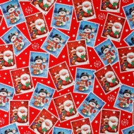 Christmas Wrapping Paper Cute Roll 12m