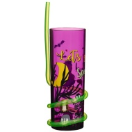 Halloween Swirly Straw Tumbler - Purple