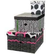 Storage Box Nest 3pc - Spots & Chevrons
