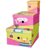 Storage Box Nest 3pc - Animals