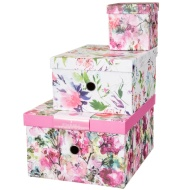 Storage Box Nest 3pc - Floral
