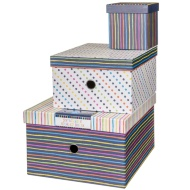 Storage Box Nest 3pc - Stripes
