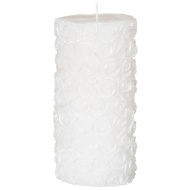Embossed Roses Pillar Candle
