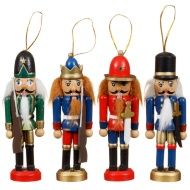 Nutcrackers Christmas Decorations 4pk