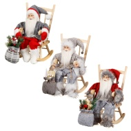 Woodland Santa on Rocking Chair Ornament