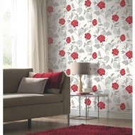 Carla Motif Wallpaper - Red