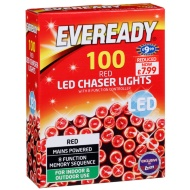 Eveready 100 LED Chaser Lights - Red