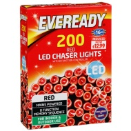Eveready 200 LED Chaser Lights - Red